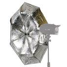 Falcon Eyes Flitsparaplu Opvouwbaar R-210SB Zilver-Zwart 110 cm