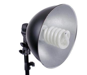 Lamphouder reflector 26cm voor één lamp