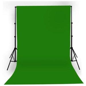 Achtergrond Support + rol papier 1.35x11m Groen
