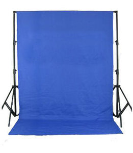 Studio Achtergrond Support BR-D26 + Doek 3x6m Blue Screen