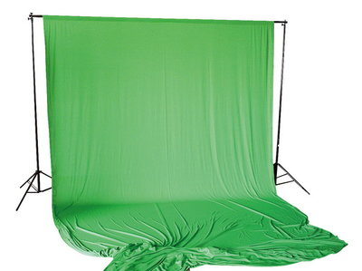 Studio Achtergrond Support BR-D26 + Doek 3x6m Green Screen