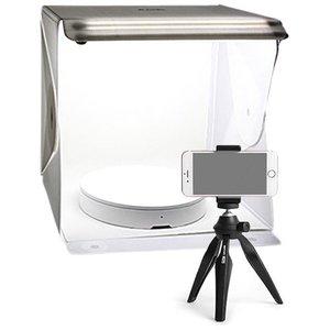 LED opnametent met Mini Draaiplateau