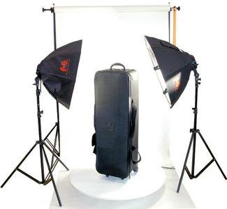 Fotostudio verlichting / achtergrond set