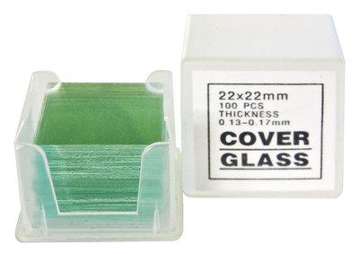 Dekglaasjes 100 stuks 22x22mm Microscoop