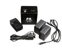 Falcon Eyes Acculader + 2x NP-F960, 7.4V, 6000 mAh